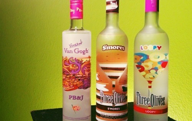 van gogh pbj, three olives smores, three olives loopy vodkas