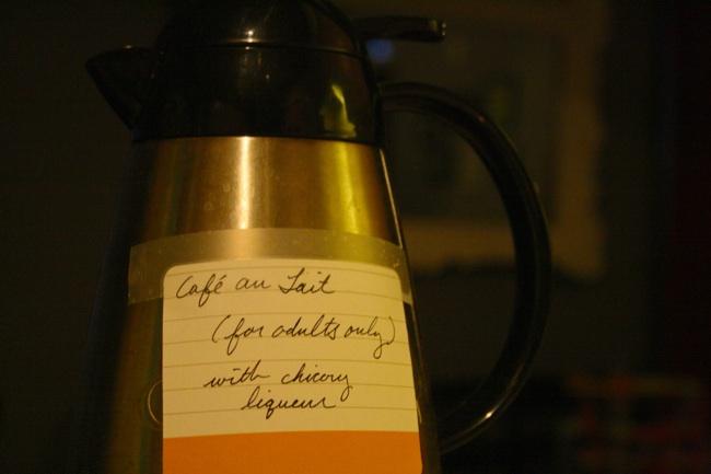 cafe au lait thermos