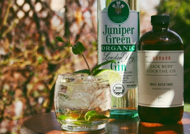 juniper green gin and jack rudy tonic
