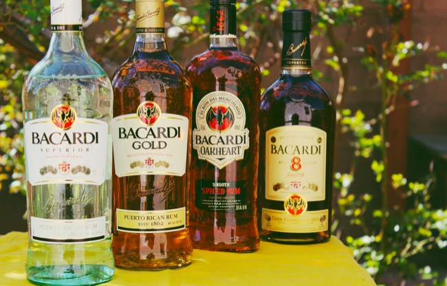 bacardi bottles product line