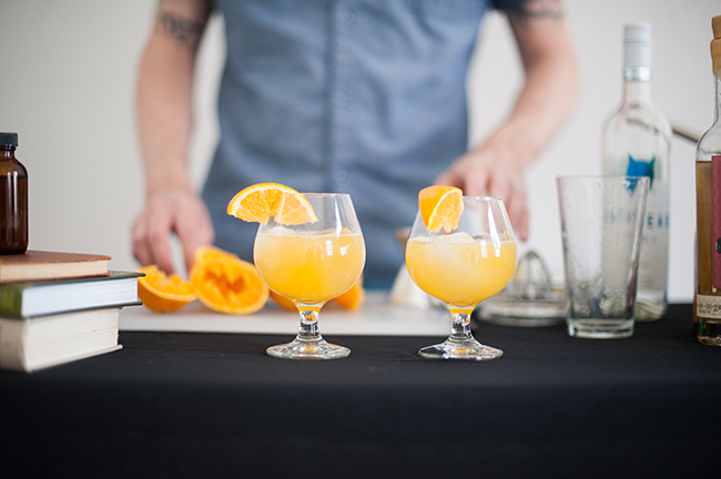screwdriver cocktails: fancy and fresh
