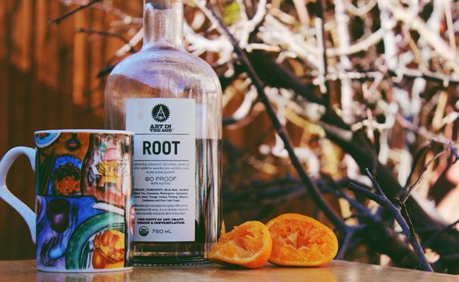 hot root tea